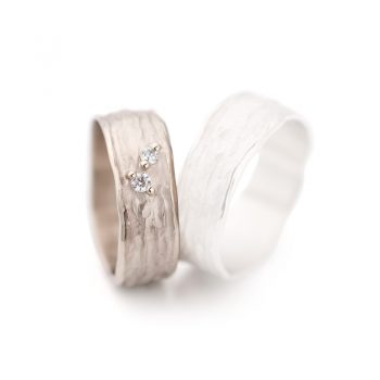 White gold wedding ring N° 28 lady's ring