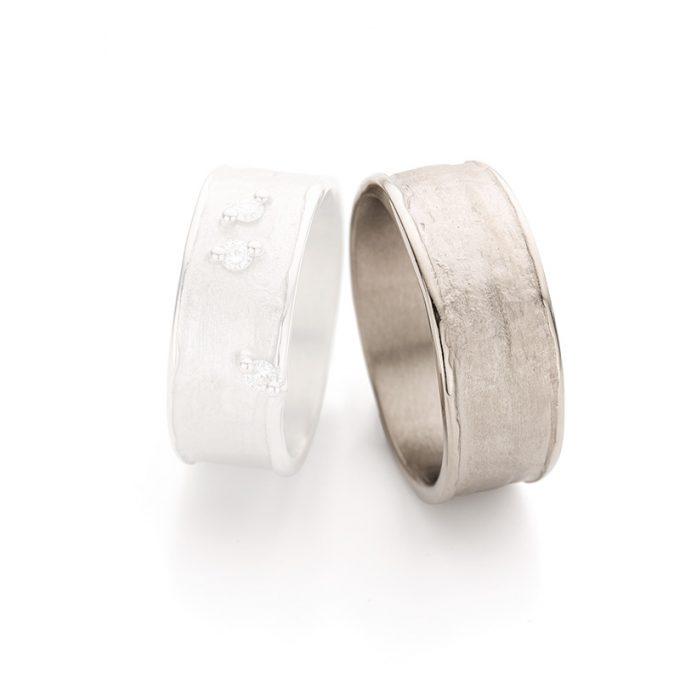 White gold wedding ring N° 29_3 man's ring