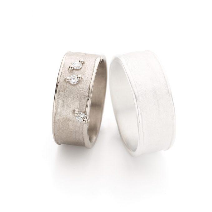 White gold wedding ring N° 29_3 lady's ring