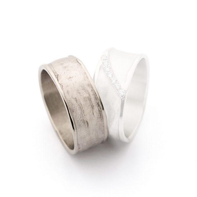 White gold wedding ring N° 29_7 man's ring