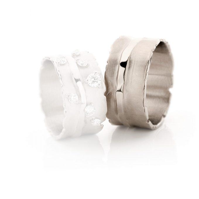White gold wedding ring N° 32_7 man's ring