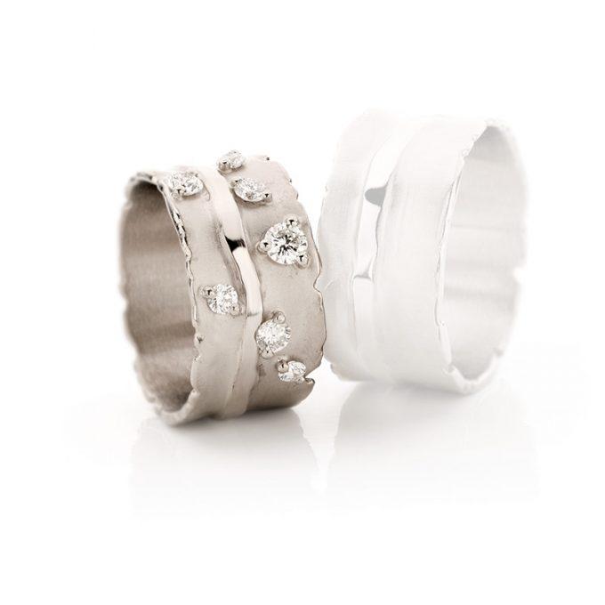 White gold wedding ring N° 32_7 lady's ring