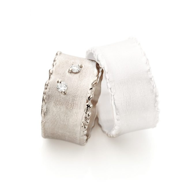 White gold wedding ring N° 33_2 lady's ring
