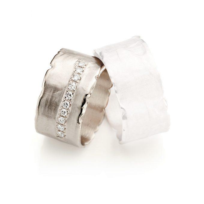 White gold wedding ring N° 35 lady's ring
