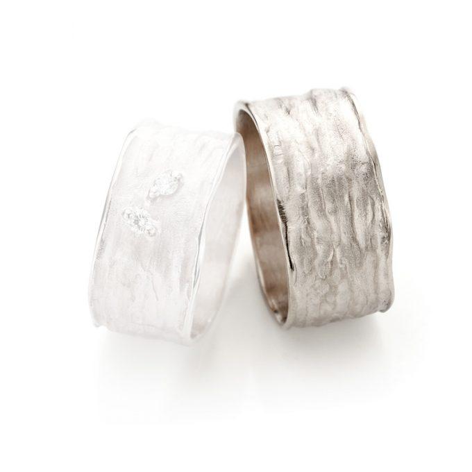 White gold wedding ring N° 36 man's ring