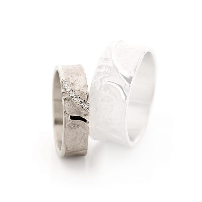 White gold wedding ring N° 37 lady's ring