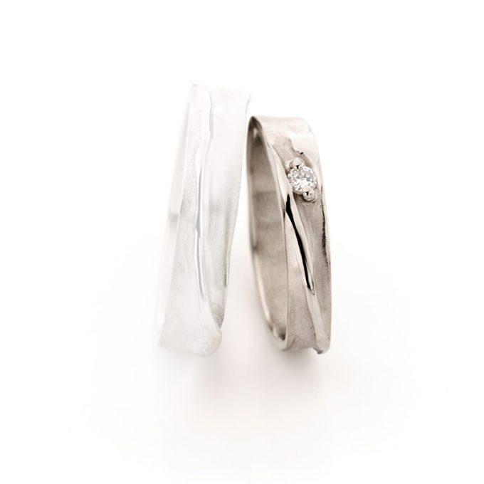 White gold wedding ring N° 39_1 lady's ring