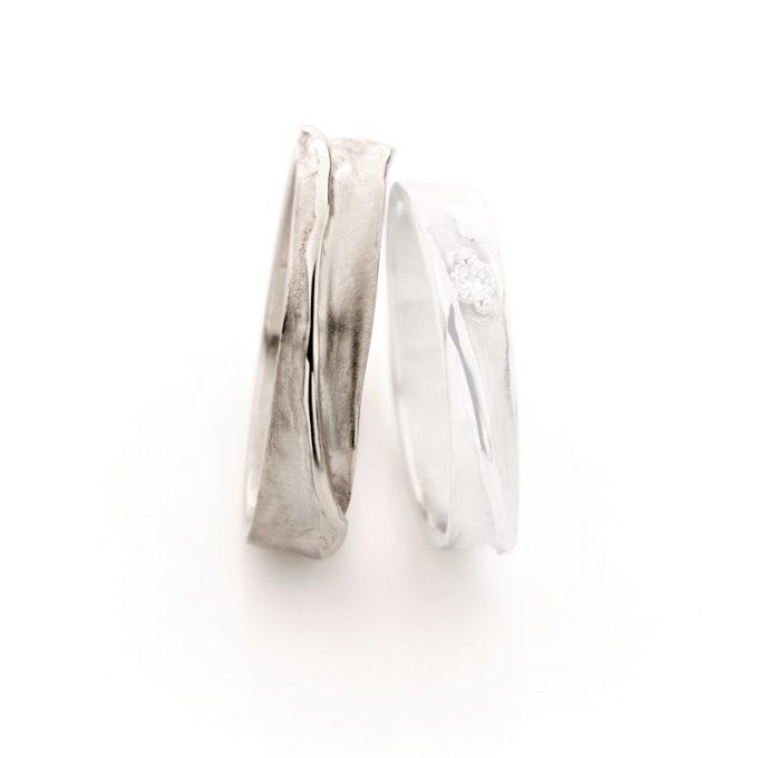 White gold wedding ring N° 39_1 man's ring