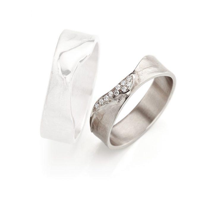 White gold wedding rings N° 3_10 lady's ring
