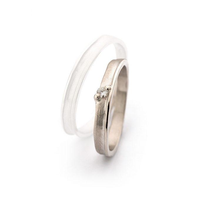 White gold wedding ring N° 40_1 lady's ring