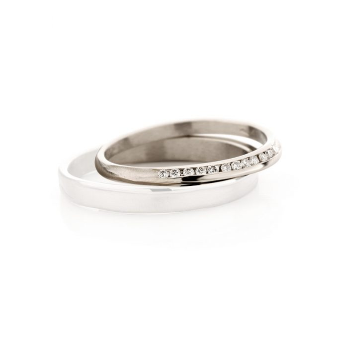 White gold wedding ring N° 40_12 lady's ring