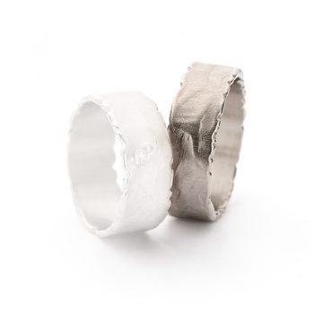 White gold wedding ring N° 41 man's ring