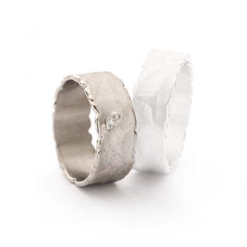 White gold wedding ring N° 41 lady's ring