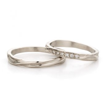 White gold wedding ring N° 45_7