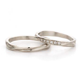White gold wedding ring N° 45_7