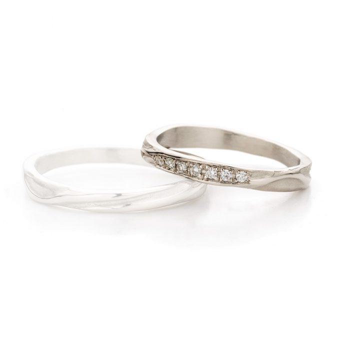 White gold wedding ring N° 45_7 lady's ring