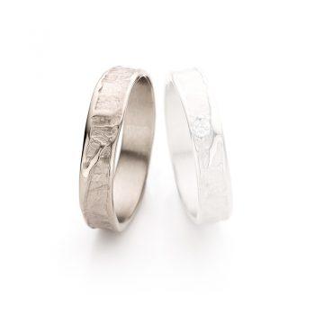 White gold wedding ring N° 046 man's ring