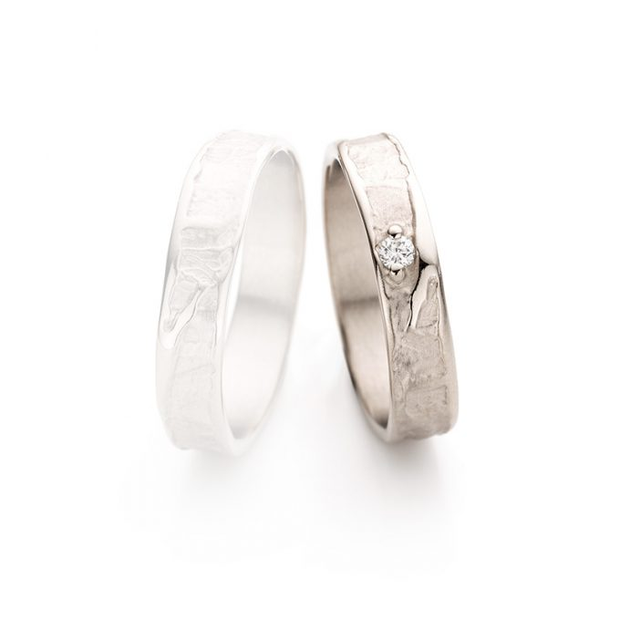 White gold wedding ring N° 046 lady's ring