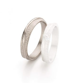 White gold wedding ring N° 047 man's ring
