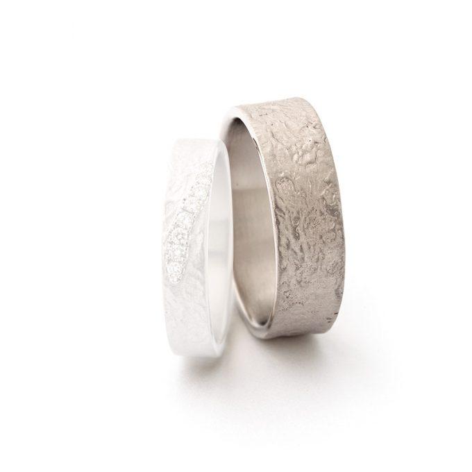 White gold wedding ring N° 049 man's ring