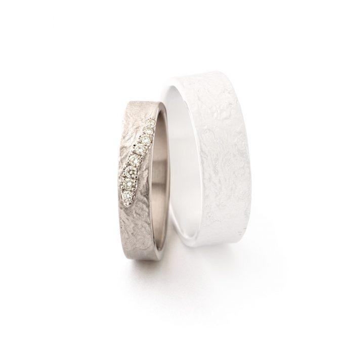 White gold wedding ring N° 049 lady's ring