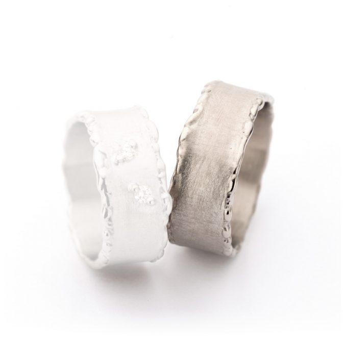 White gold weddingrings N° 50_2 man's ring