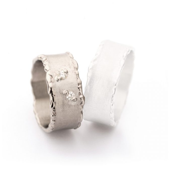 White gold weddingrings N° 50_2 lady's ring