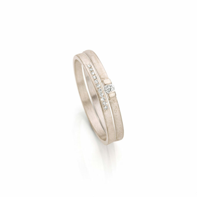 Champagne Gold Combination Rings
