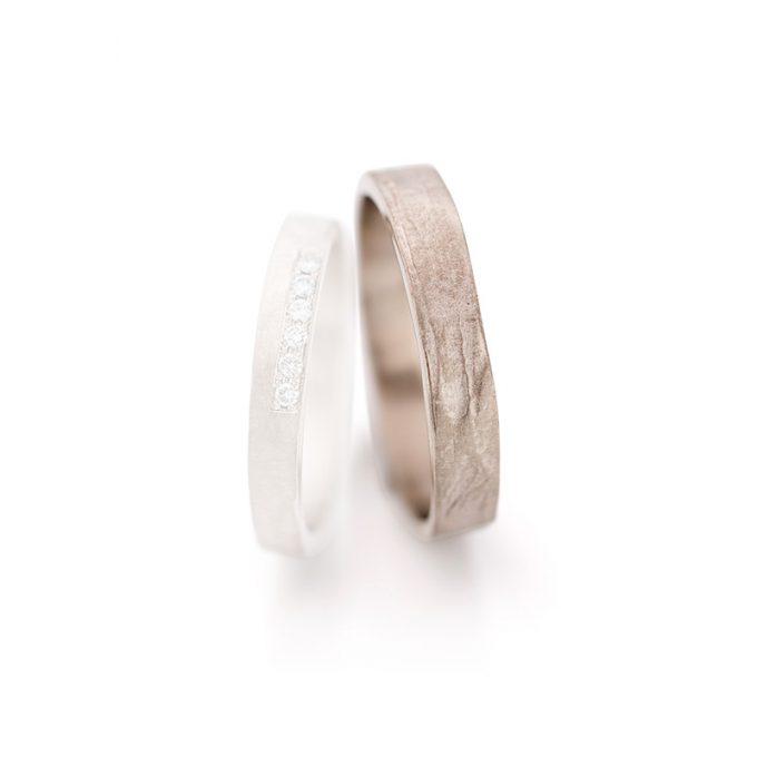 White gold wedding rings N° 6 man's ring