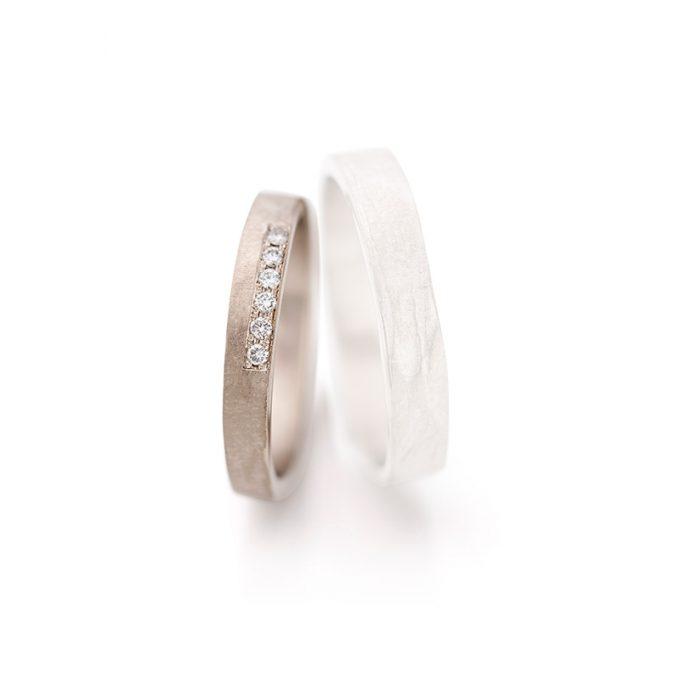 White gold wedding rings N° 6 lady's ring