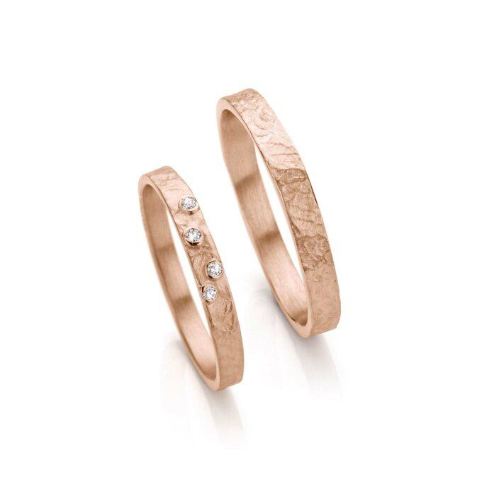 Rosé gold wedding rings