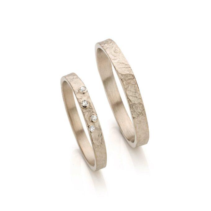 White gold wedding rings