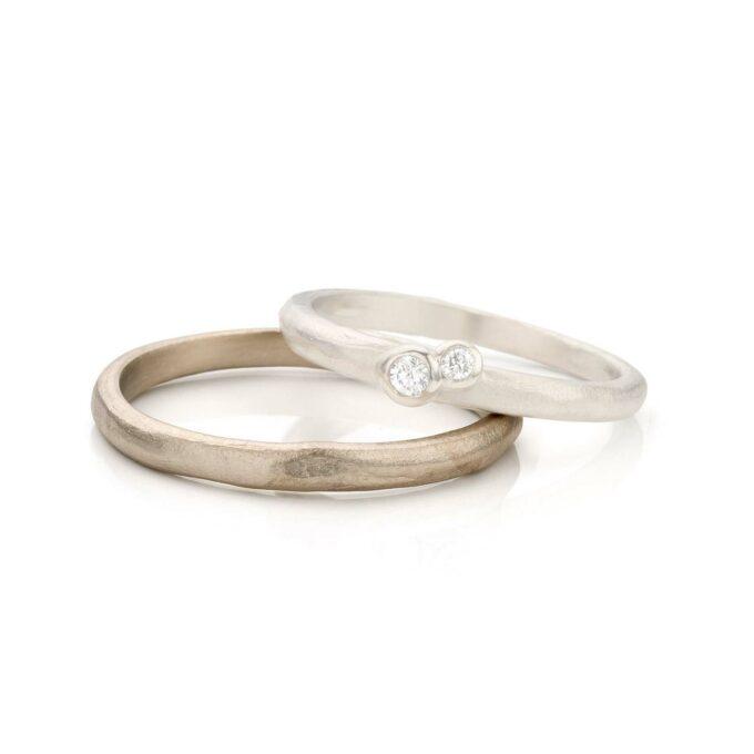 White gold wedding ring for men