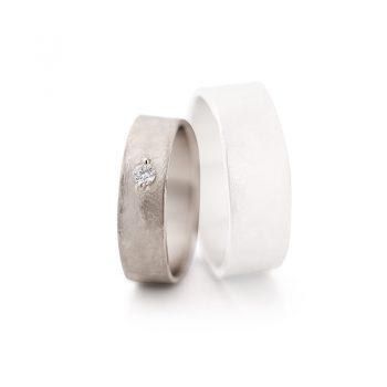 White gold wedding rings N° 6_1 lady's ring