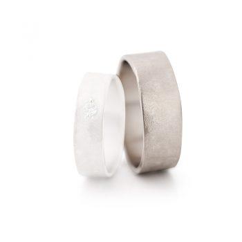 White gold wedding rings N° 6_1 man's ring