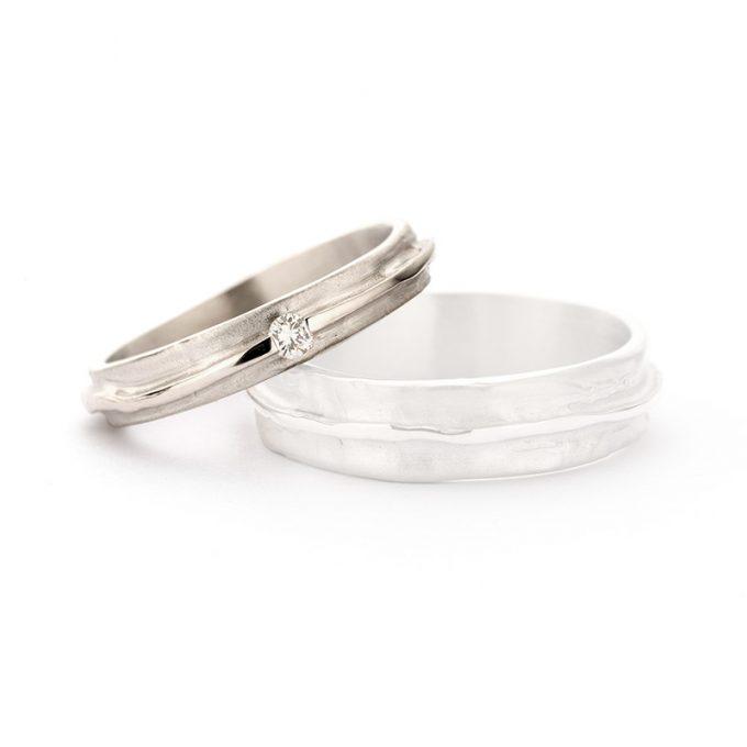 White gold wedding rings N° 7_1 lady's ring