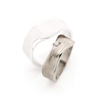 White gold wedding rings N° 8_1 lady's ring