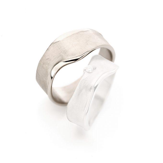 White gold wedding rings N° 8_1 man's ring