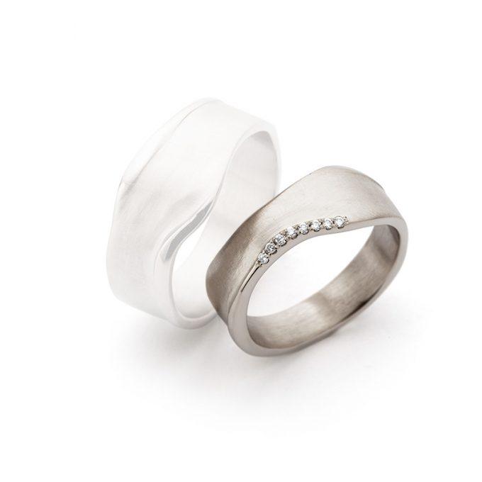 White gold wedding rings N° 8_7 lady's ring