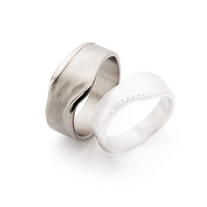 White gold wedding rings N° 8_7 man's ring