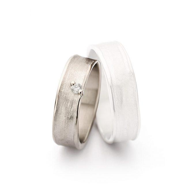 White gold wedding rings N° 9_1 lady's ring