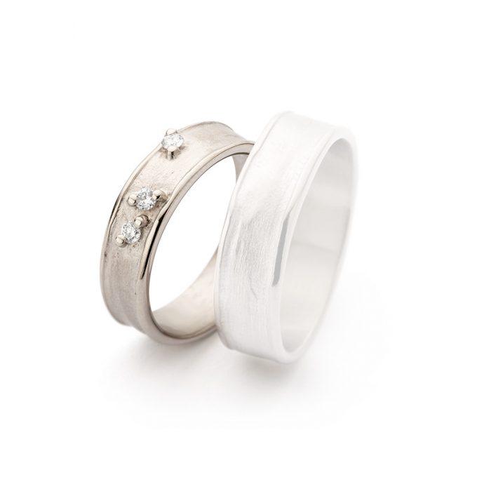 White gold wedding rings N° 9_3 lady's ring