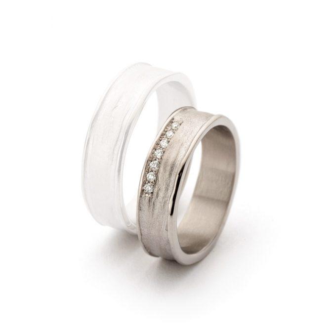 White gold wedding rings N° 9_7 lady's ring