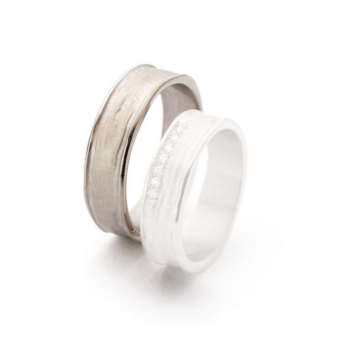 White gold wedding rings N° 9_7 man's ring