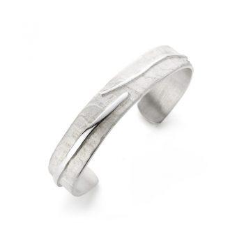 Silver open bangle N° 016