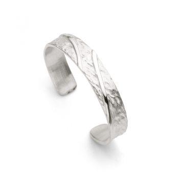 Silver open bangle N° 014