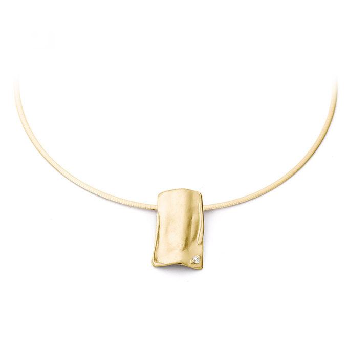 Witgouden as ketting N°225_SET geel goud