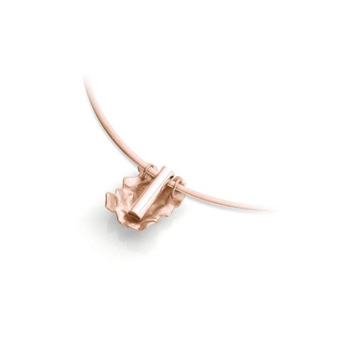 Witgouden as ketting N°233 rose goud