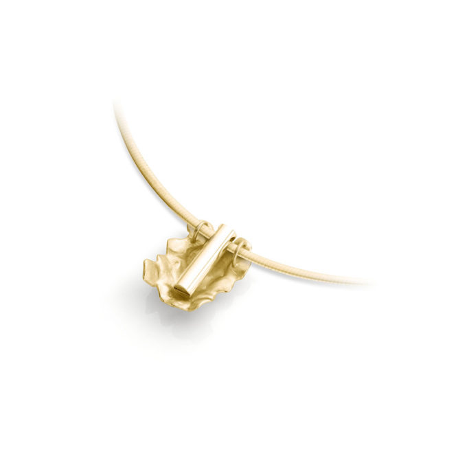 Witgouden as ketting N°233 geel goud