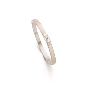 White gold engagement ring with diamond N° 060